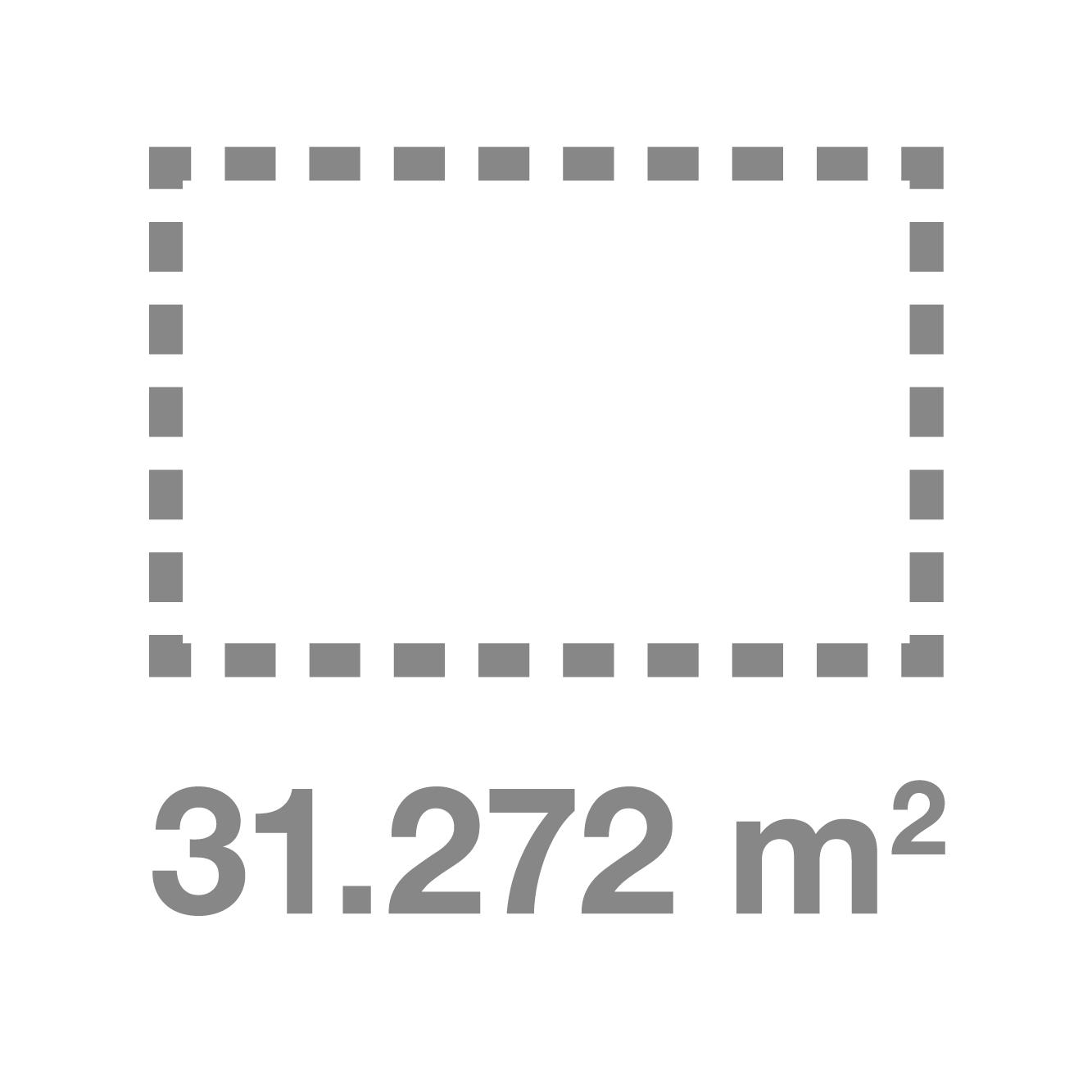 31272 Metros Cuadrados de superficie