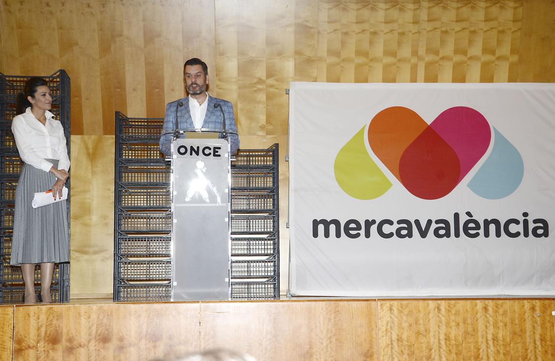 Carlos Galiana a la presentació de la nova web de Mercavalència