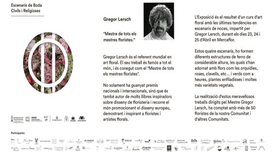 """El """"mestre de mestres"""" internacional de l'art floralGregors Lersch a València"""