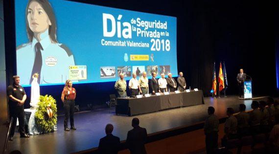 El director de seguretat de Mercavalència, Jose Antonio Pereira, rep la Menció Honorífica  en el Dia de la Seguretat Privada