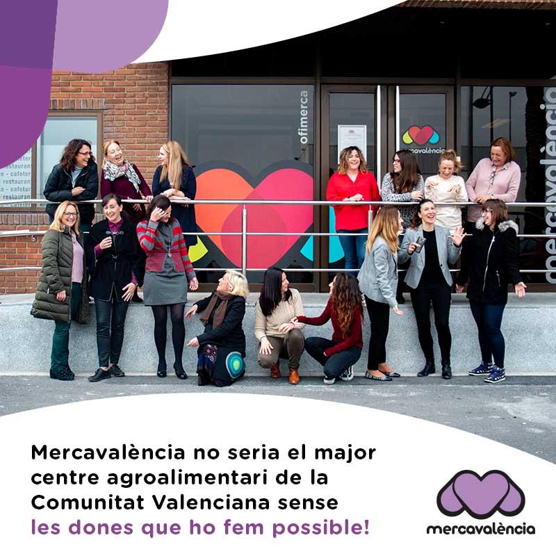 Visibilitzem a les treballadores de Mercavalència pel 8 de març