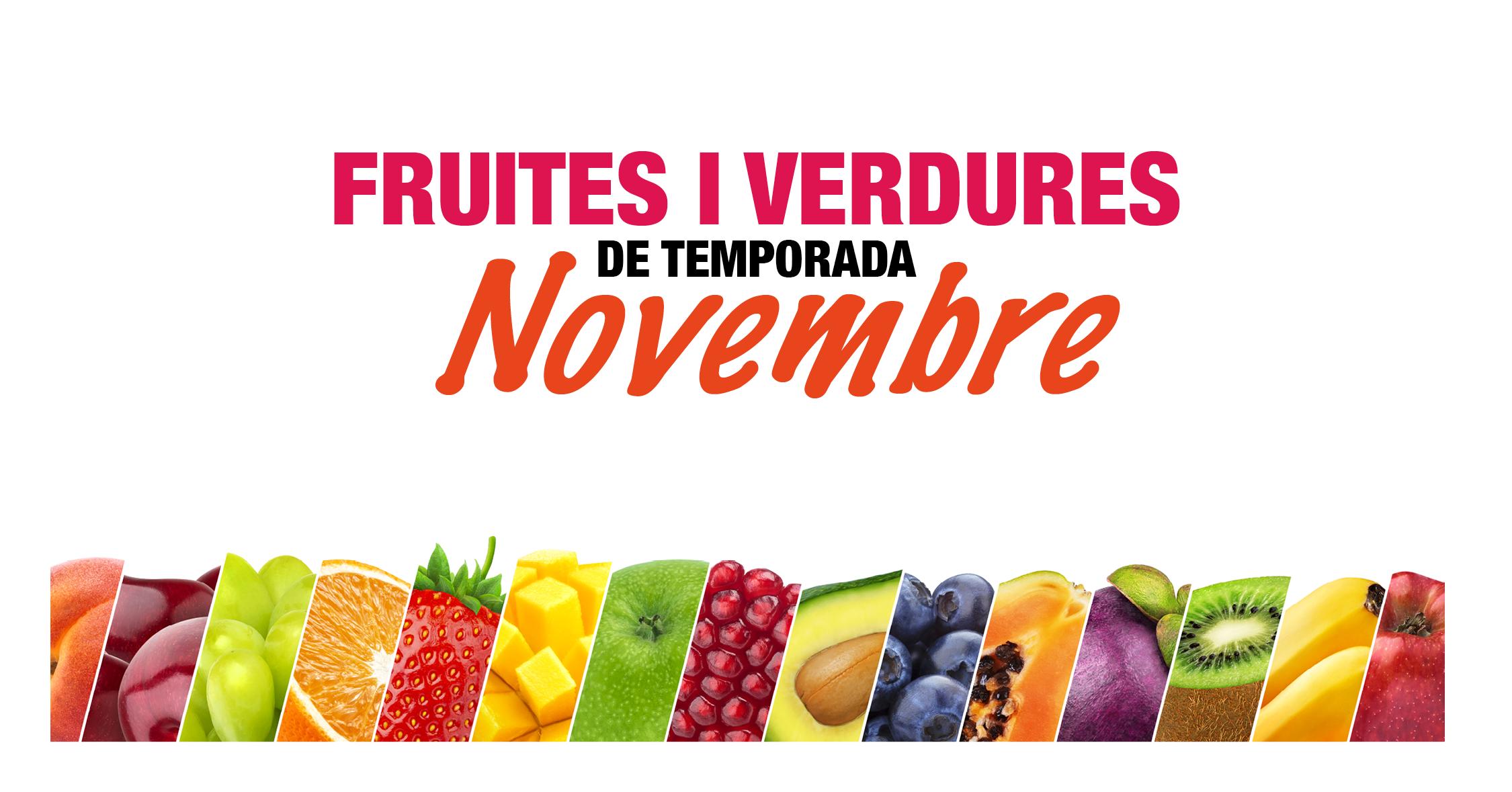 Fruites i verdures de temporada: Novembre