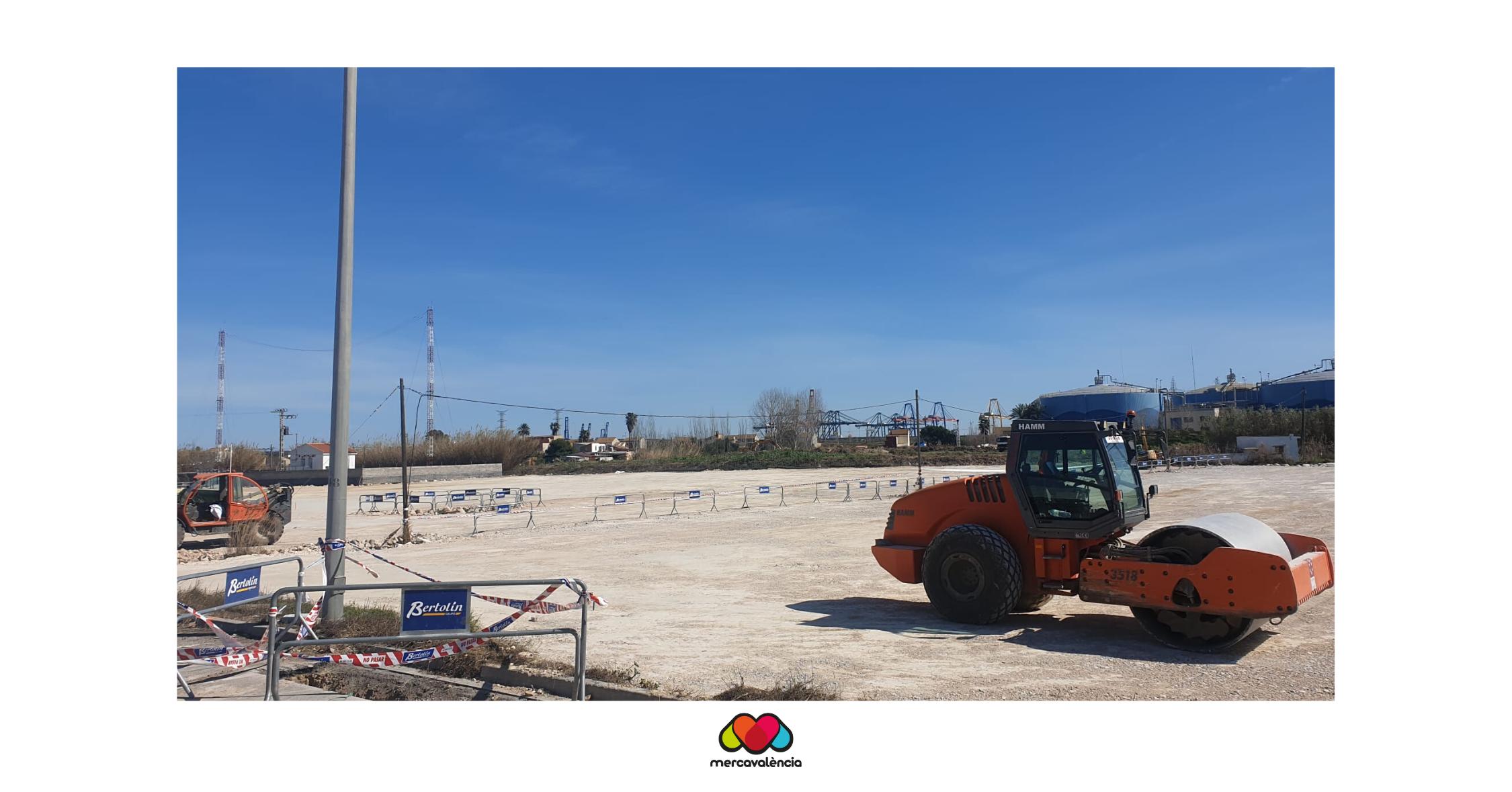 Continuen les obres delpàrquingde camions d'última generació aMercavalència