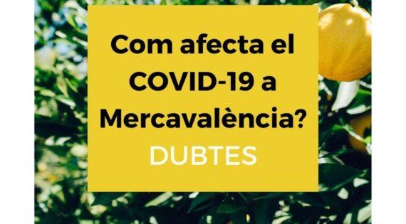 Dubtes del funcionament de Mercavalència durant l'alerta de la COVID-19