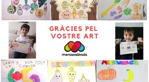 Mercavalència rep mostres de suport de xiquets i xiquetes valencians