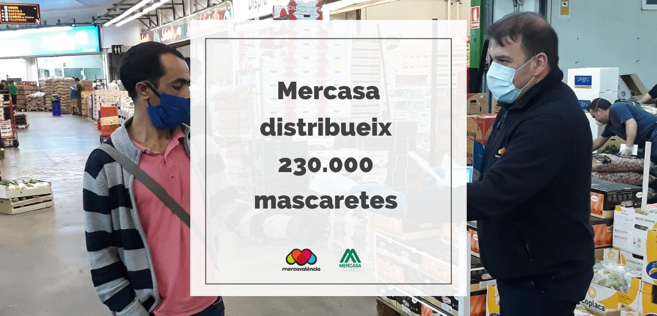 Mercasa distribueix 230.000 mascaretes donades per la comunitat hispano-kongkonesa  entre els comerciants detallistes dels mercats municipals que acudeixen a comprar a la Xarxa de Mercas.