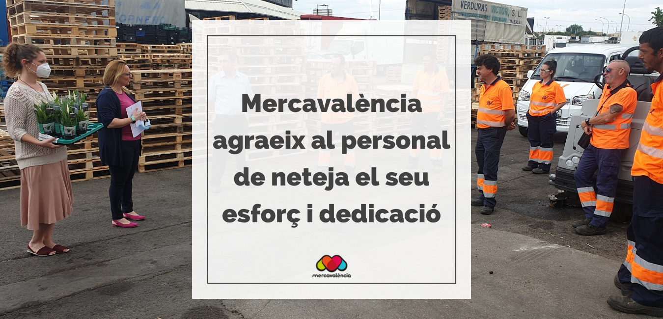 Hui agraïm al personal de neteja de les empreses proveïdores el seu treball i esforç