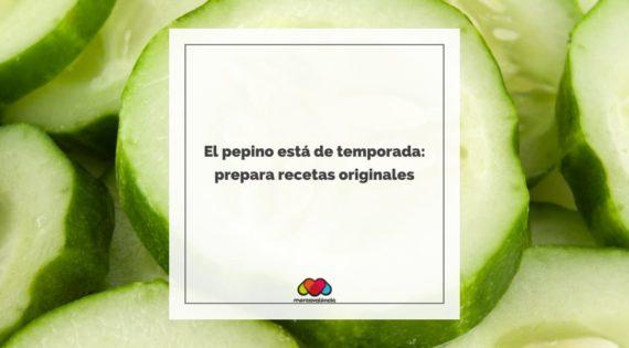 El pepino está de temporada: prepara recetas originales